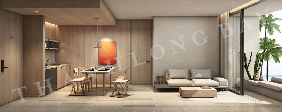 Phòng khách căn hộ 3PN Sky Garden dự án Thanh Long Bay
