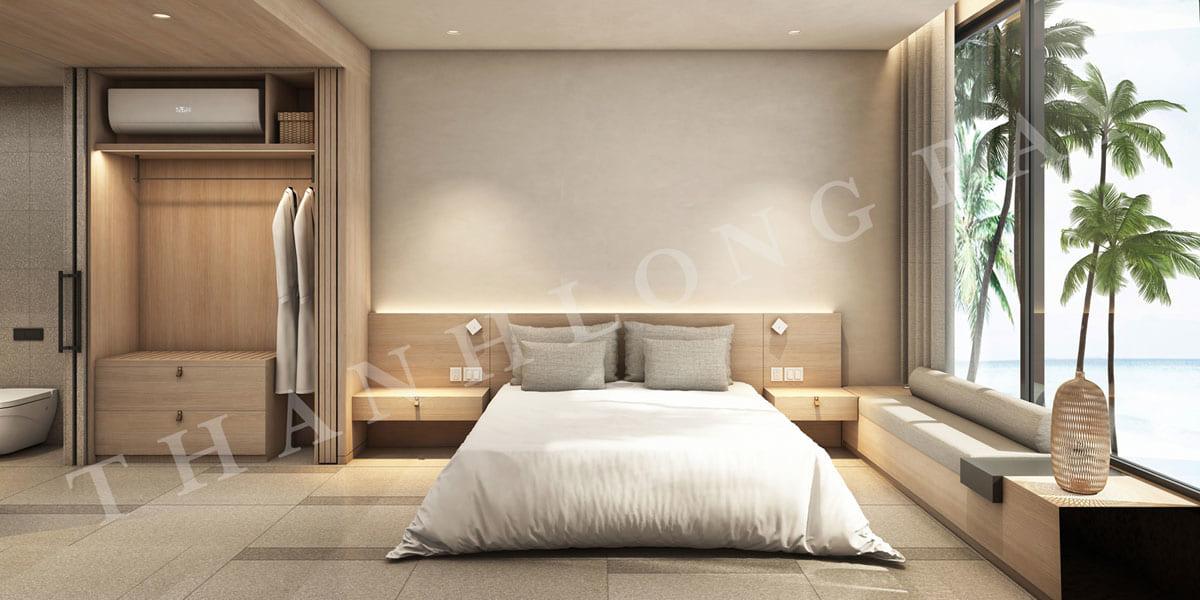 Phòng ngủ căn hộ 3PN Sky Garden dự án Thanh Long Bay