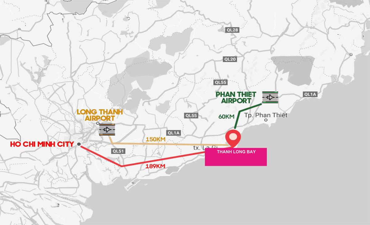 Vị trí dự án Thanh Long Bay Phan Thiết