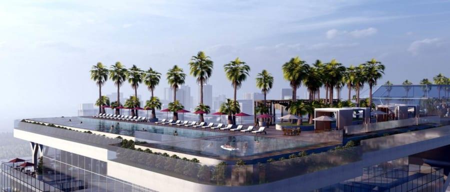 Sky bar được thiết kế trên tầng thượng ở dự án căn hộ Sunshine Horizon