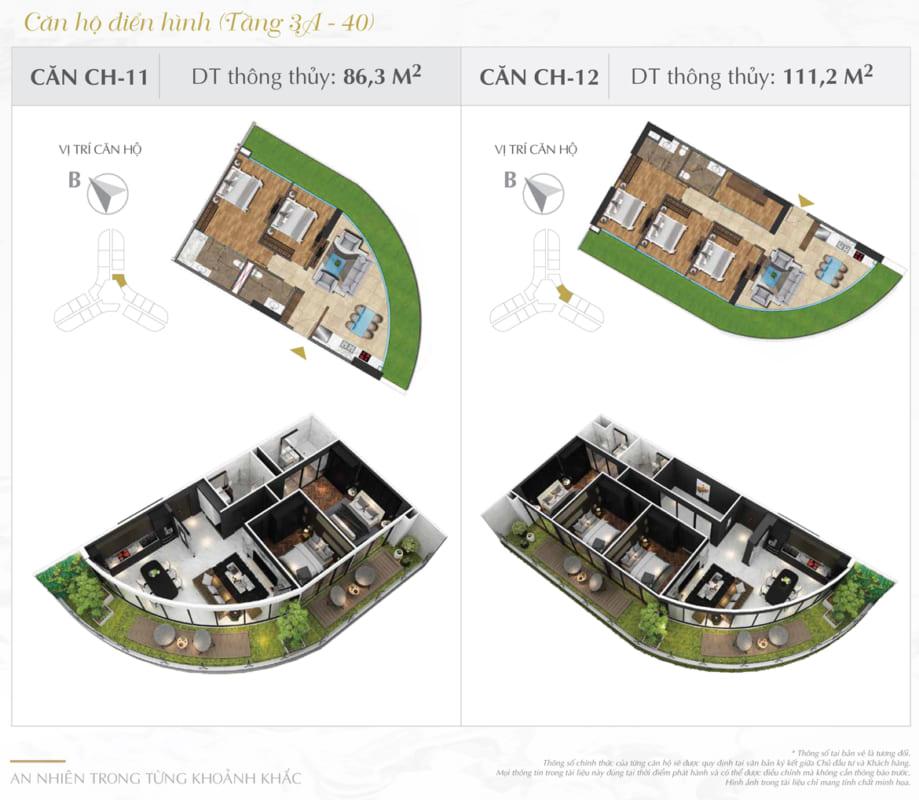 Thiết kế căn hộ Sunshine 111.2m2
