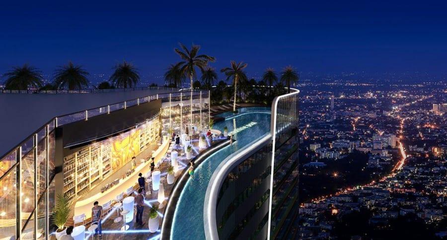 Skybar được thiết kế trên tầng cao nhất của mỗi tháp Sunshine Quận 7