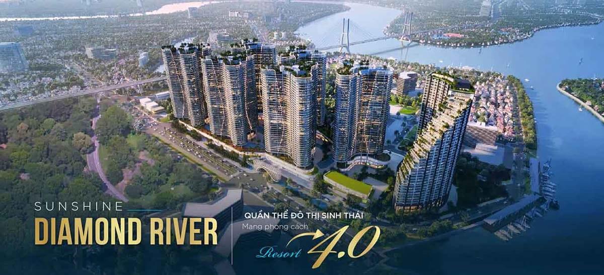 Dự án Sunshine Diamond River – quần thể đô thị nghỉ dưỡng resort 4.0 ven sông đắt giá