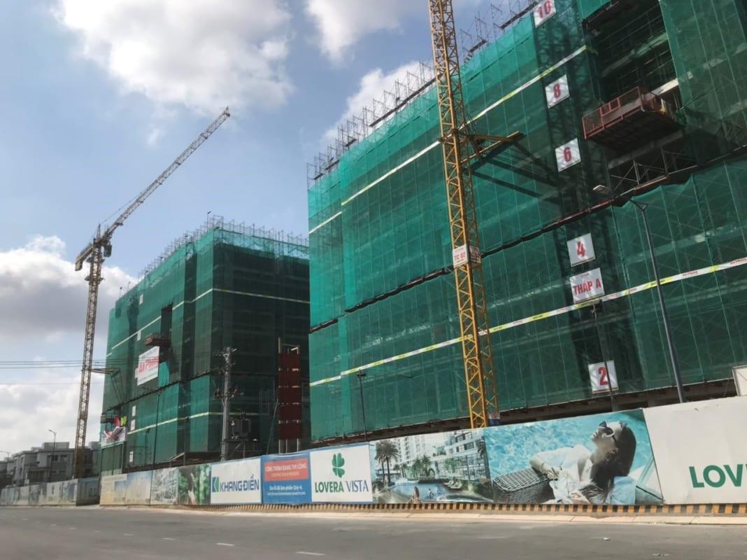 Tiến độ thi công Lovera Vista Khang Điền đến tháng 2/2020.