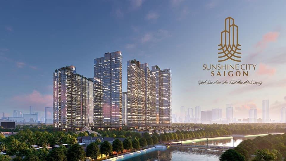 Hình ảnh tổng thể dự án Sunshine City Saigon