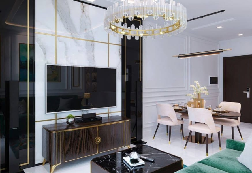 Thiết kế căn hộ 2PN Kingdom Tô Hiến Thành