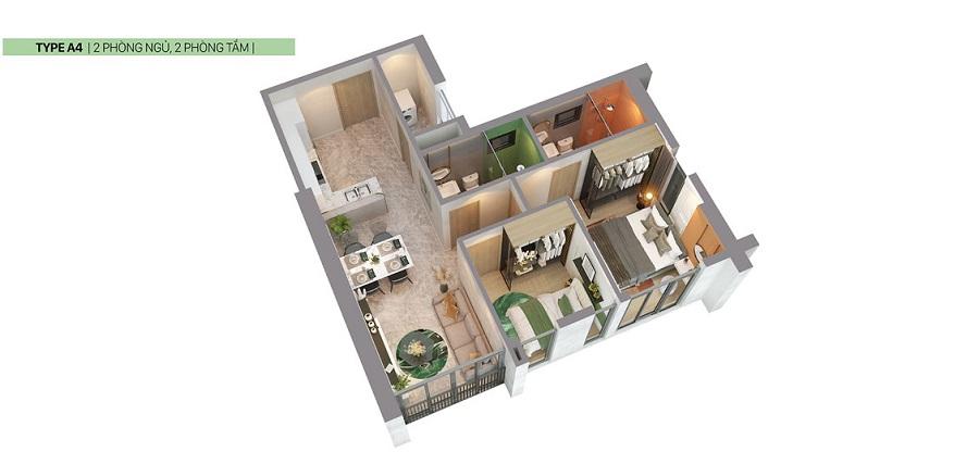 Thiết kế căn hộ Citi Grand loại A4