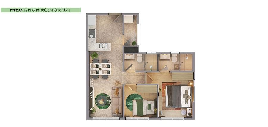 Thiết kế căn hộ Citi Grand Kiến Á Quận 2