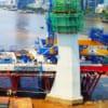 Hình ảnh xây dựng cầu Thủ Thiêm 2 thời điểm tháng 5/2020