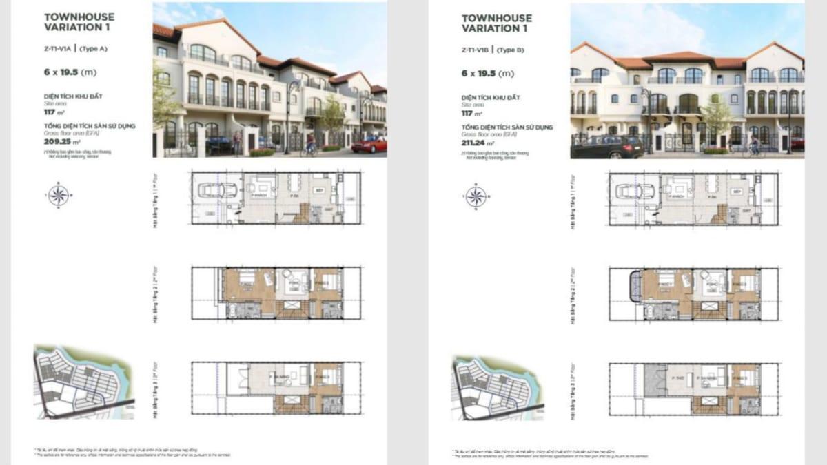 Thiết kế nhà phố Townhouse Variation – The Valencia