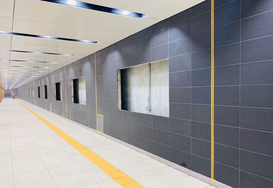 Tiến độ bên trong nhà ga ngầm tuyến metro Bến Thành Suối Tiên