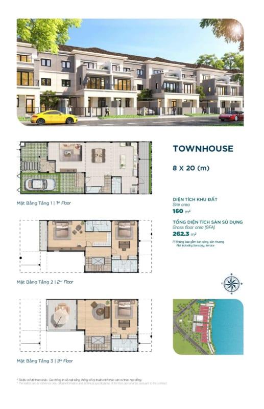 Thiết kế mẫu nhà phố River Park 1 diện tích 8x20m