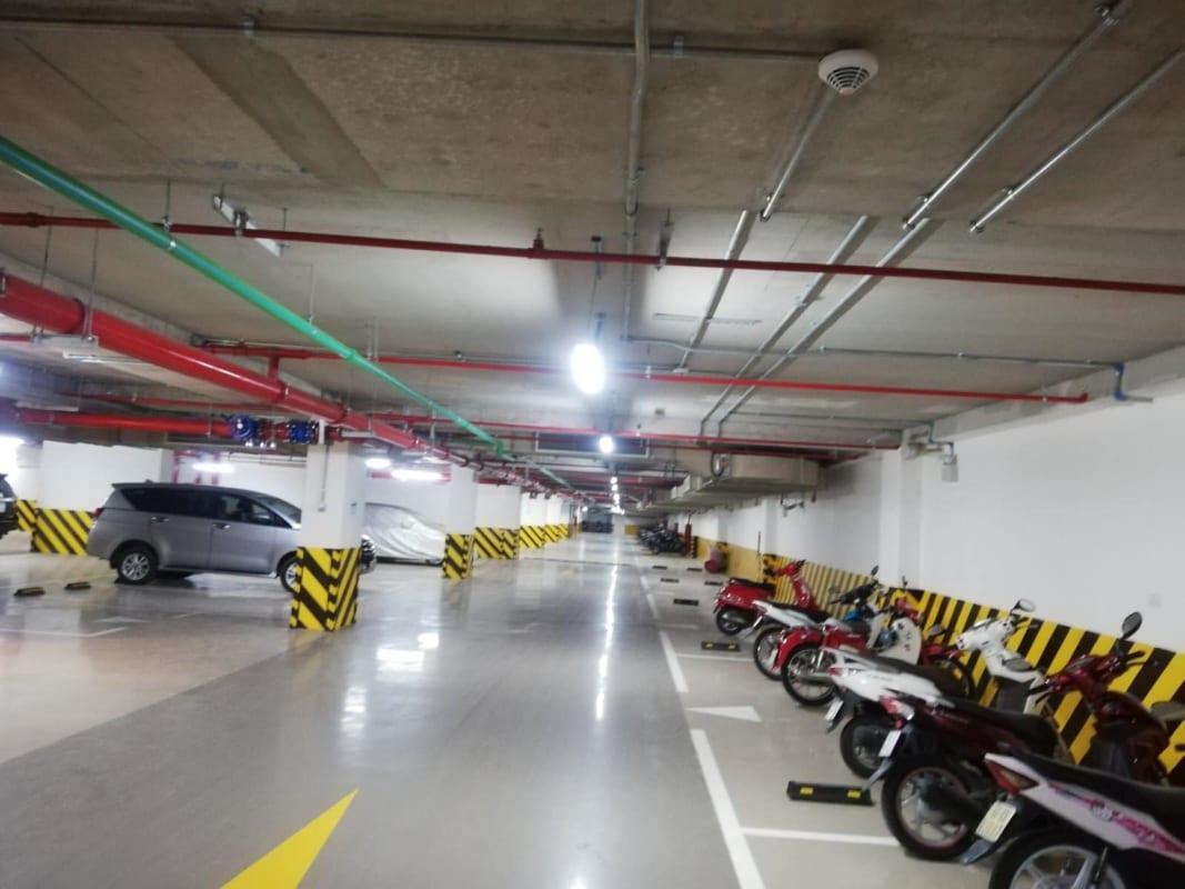 Hầm gửi xe tại dự án Kingdom 101