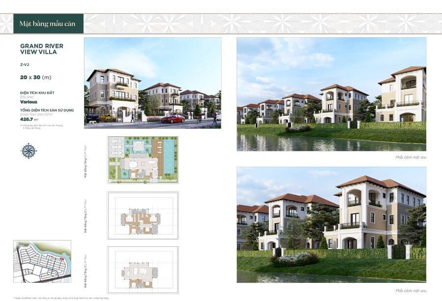 Biệt thự song lập Premium Green Villa: Diện tích 20×30m