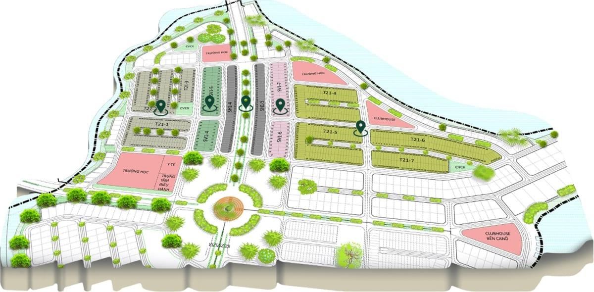 Vị trí phân khu Stella Aqua City với các mẫu biệt thự vườn