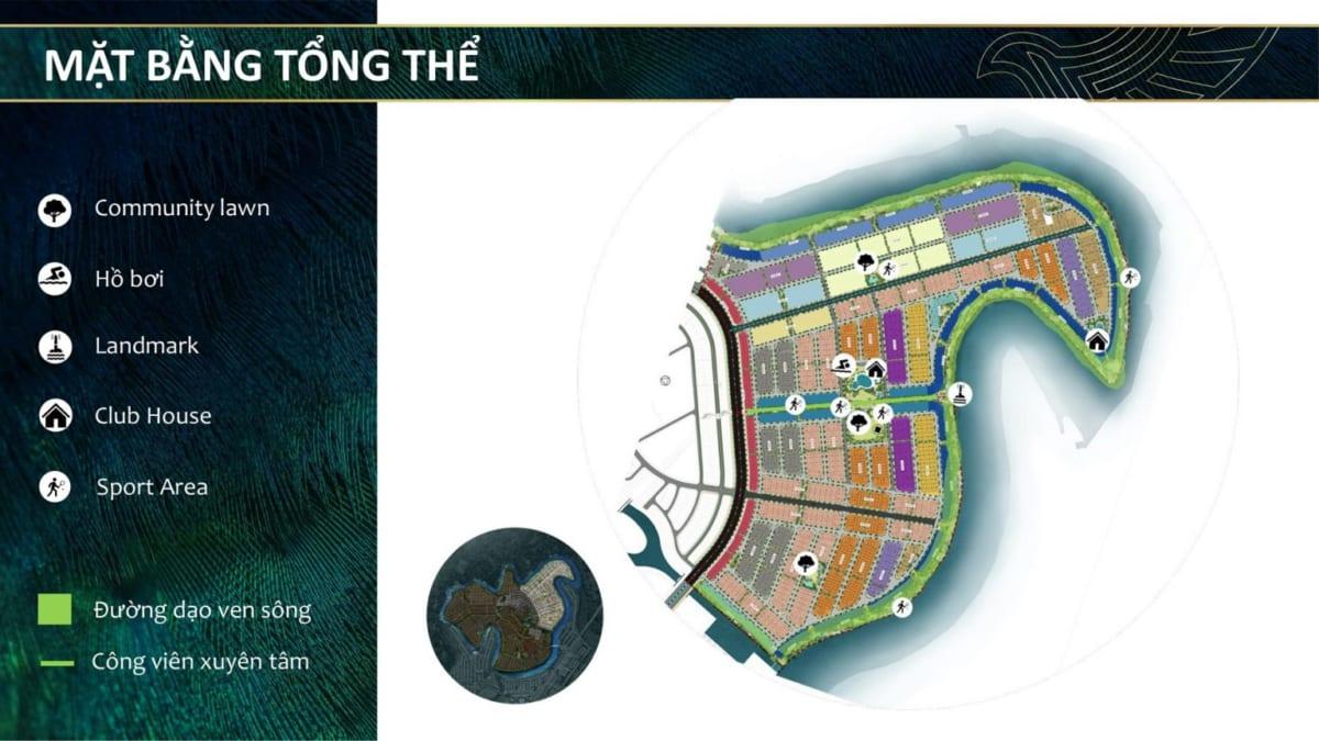 Mặt bằng tổng thể phân mở bán đầu tiên của Đảo Phượng Hoàng Aqua City Phoenix
