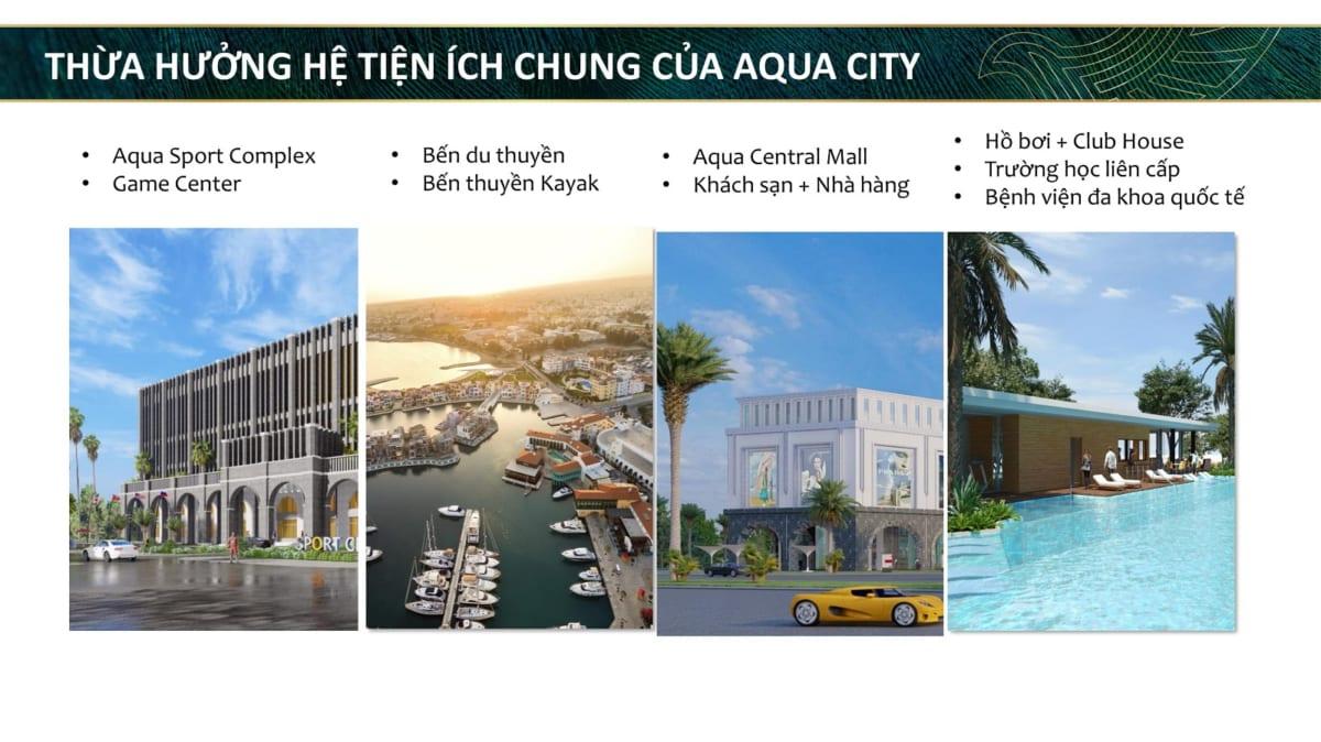 Tiện ích chung của dự án khu đô thị sinh thái Aqua City