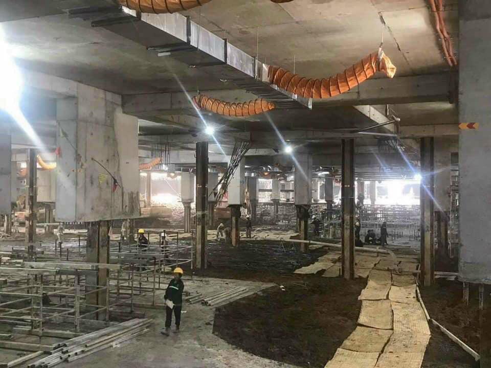 Quá trình xây dựng hầm tầng 1 dự án The Grand Manhattan.