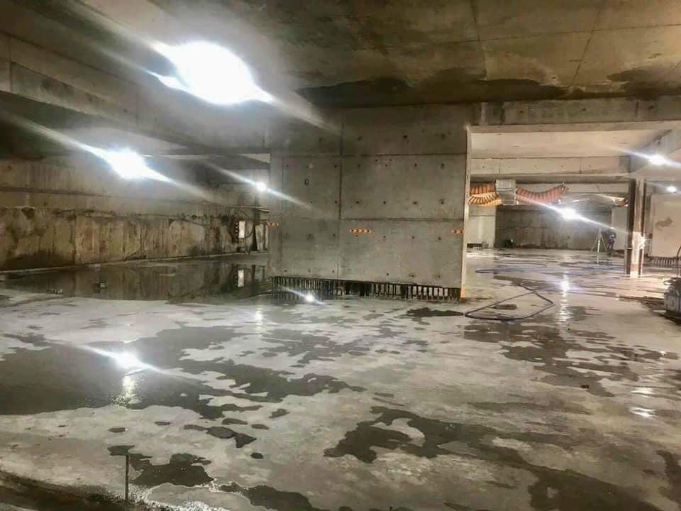 Quá trình xây dựng hầm tầng 2 dự án The Grand Manhattan Novaland.