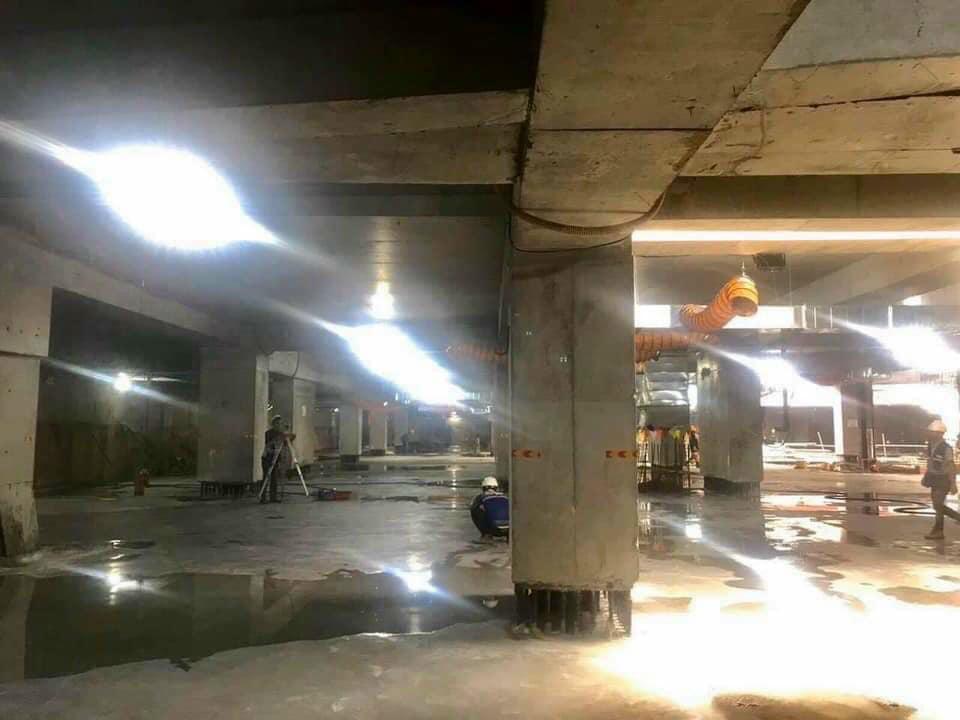Các tầng hầm tại The Grand Manhattan đang dần hoàn thiện.