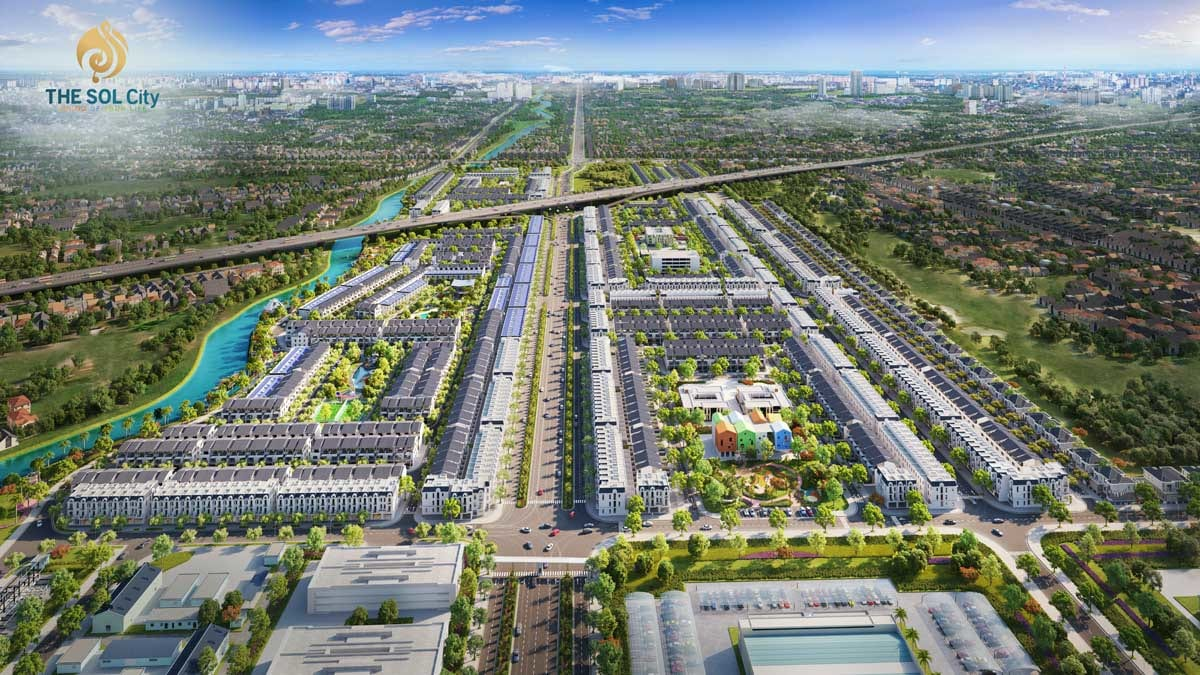 Phối cảnh chính của dự án The Sol City Long An