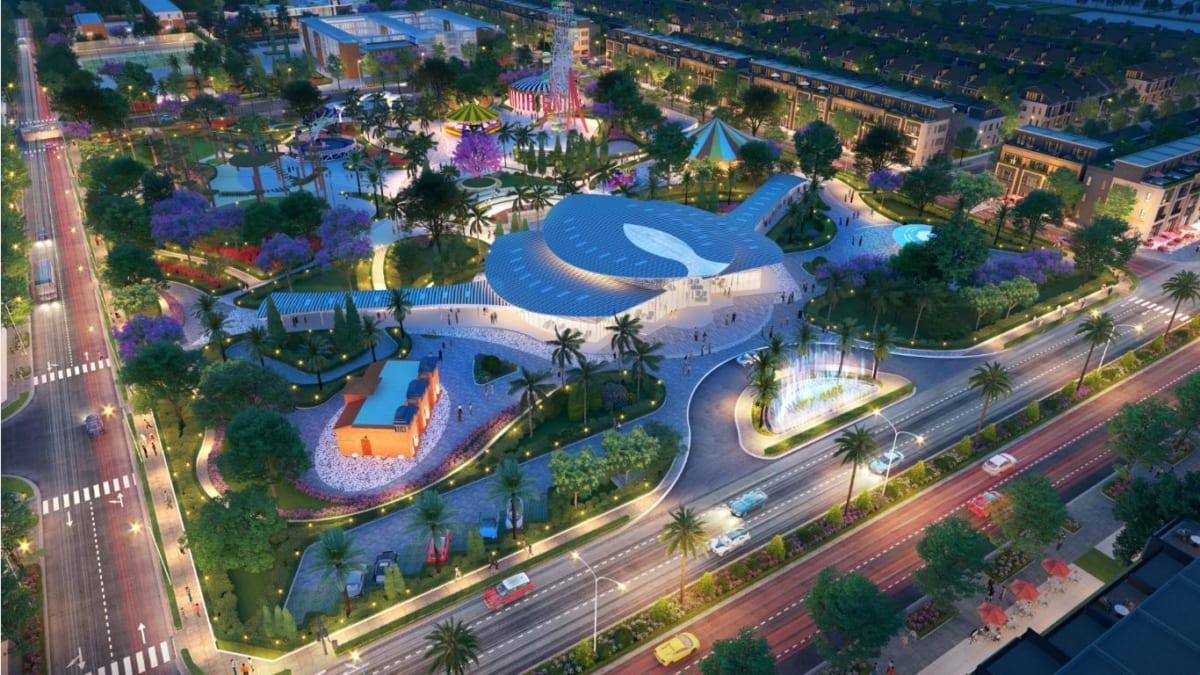Thiết kế nổi bật của nhà điều hành của Khu đô thị Gem Sky World.