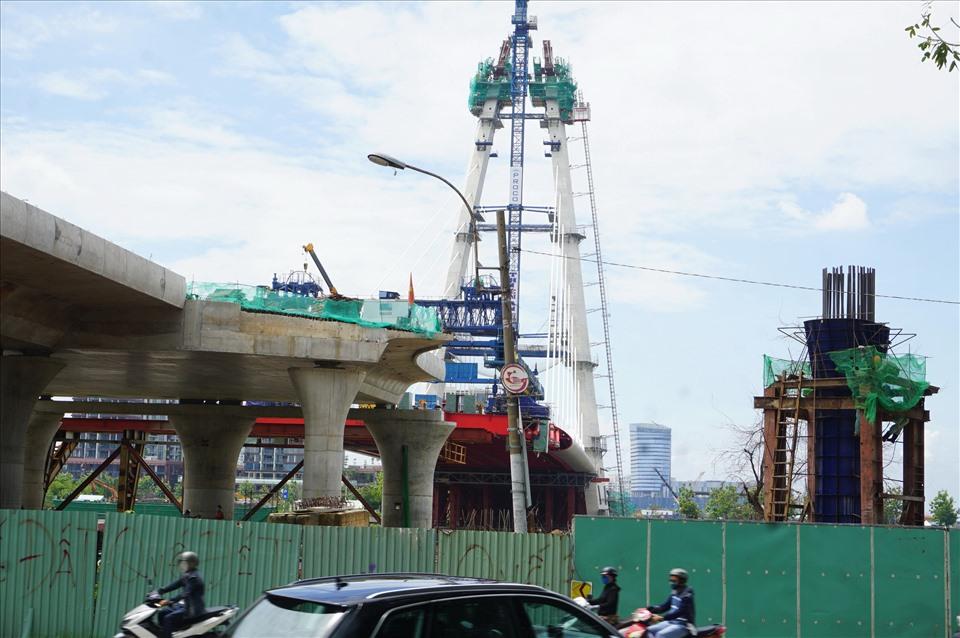 Cầu Thủ Thiêm 2 chỉ còn một nhịp là nối bờ quận 1 và khu đô thị mới Thủ Thiêm